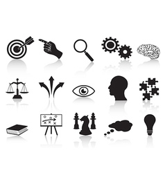 Strategy concepts icons set vector