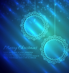 Merry christmas design in shiny background vector