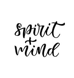 Healthy living concept calligraphic text - spirit vector