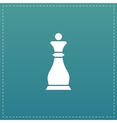 Chess queen icon vector