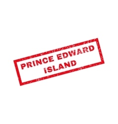Prince edward island rubber stamp vector