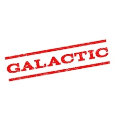 Galactic watermark stamp vector