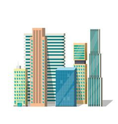 Buildings  modern city vector