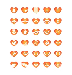 Web and computing icons hearts vector
