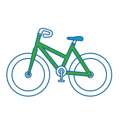 Isolated sport bicycle vector