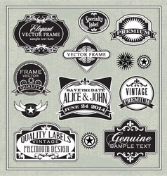 vintage labels frames design elements vector image