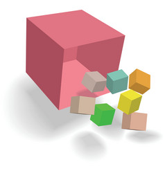 Abstract cubes design vector