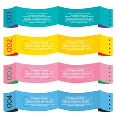 Colorful Paper Banners vector image