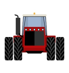 Big red tractor vector