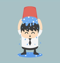 Ice bucket challenge business vector