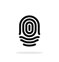 Fingerprint whorl type icon on white background vector