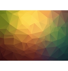 Triangle retro colorful background vector