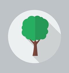 Eco Flat Icon Tree vector image