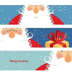 Set of cards santa claus jolly good christmas vector