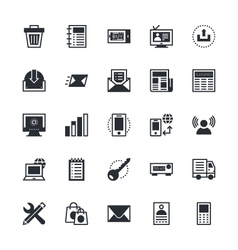 User interface and web colored icons 3 vector