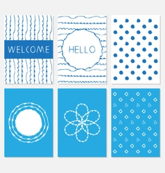 Set of design templates vector