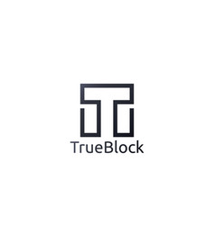 Abstract alphabet letter t logo icon floor tile vector