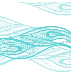 Abstract hand drawn decotative waves background vector image vector image