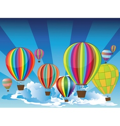 Air Balloons in the Sky2 vector image