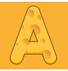 Alphabet Cheese vector image vector image