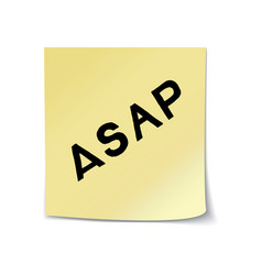 Asap lettering on sticky note vector