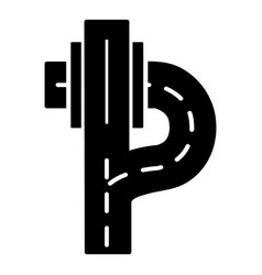 Autobahn icon simple style vector