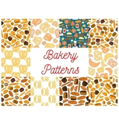 Bakery seamless pattern backgrounds vector image