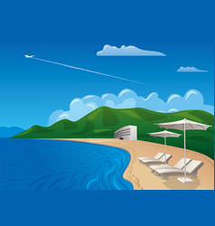 beach resort journey vector image
