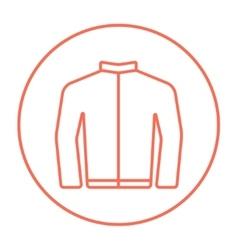 Biker jacket line icon vector