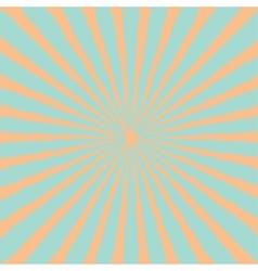 Blue orange sunburst starburst with ray of light vector