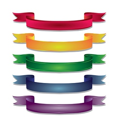 colored ribbon vector image