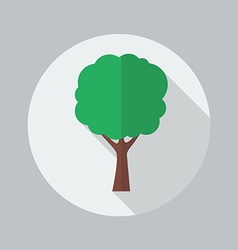 Eco Flat Icon Tree vector image vector image