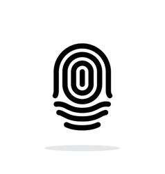 Fingerprint whorl type icon on white background vector