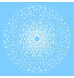 Geometric abstract lattice with connected line and vector