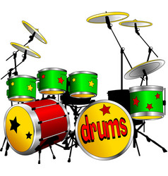 Green drums vector