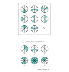 Iq test choose correct answer vector