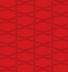 Red checkered squashed hexagons vector