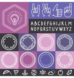 set of outline design elements vector image vector image