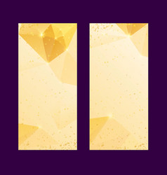 Set of polygonal golden backgrounds luxury vector