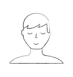 Sketch draw man face cartoon vector