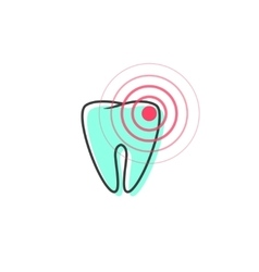 Tooth pain iconsymbol of teeth ache vector