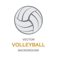 Volleyball gray background vector