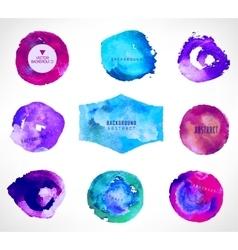 Watercolor design elements vector