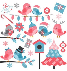 Winter Birds vector image