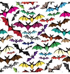 Halloween bat seamless pattern vector