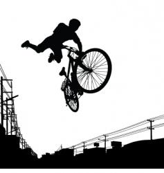 kid biker vector image