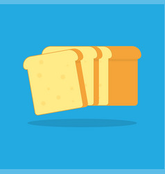 Toast bread icon vector