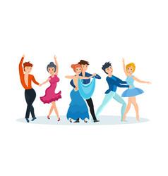 Dances tango gentle waltz beautiful ballet vector