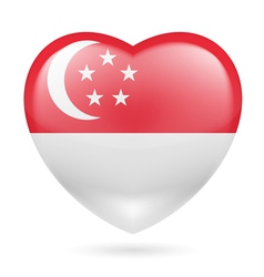 Heart icon of singapore vector