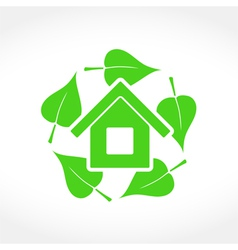 Green house emblem vector